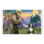 St. Francis & Beardie Rectangle Sticker