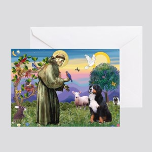 St Francis/Bernese Greeting Card