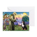 St Francis/Bernese Greeting Card