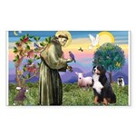 St Francis/Bernese Rectangle Sticker