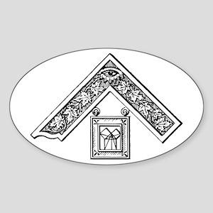 Past Master's Jewel Oval Sticker