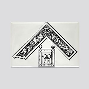 Past Master's Jewel Rectangle Magnet
