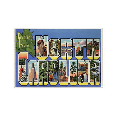 North Carolina NC Rectangle Magnet