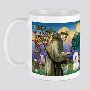 St Francis / Bichon Frise Mug