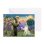 St Francis & Borzoi Greeting Cards (Pk of 20)
