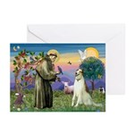 St Francis & Borzoi Greeting Cards (Pk of 10)