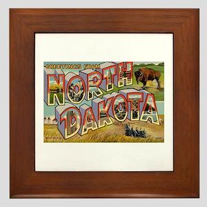 North Dakota ND Framed Tile