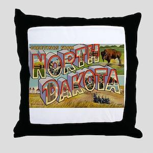 North Dakota ND Throw Pillow