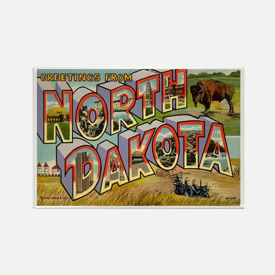 North Dakota ND Rectangle Magnet