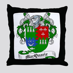 MacQuarrie Family Crest Throw Pillow