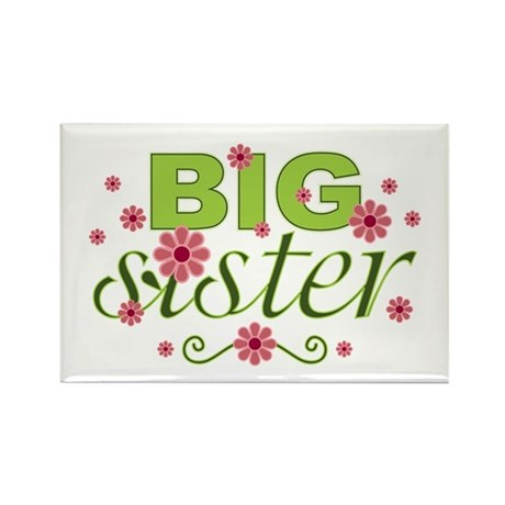 Big Sister Garden Flowers Rectangle Magnet