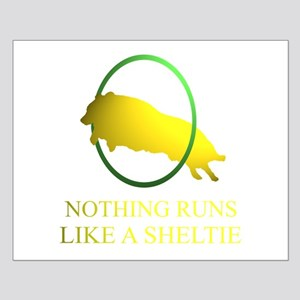 Running Sheltie Small Poster