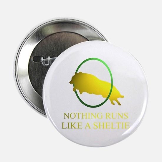 """Running Sheltie 2.25"""" Button"""