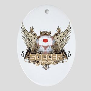 Soccer Japan Oval Ornament