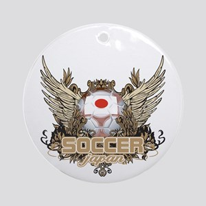Soccer Japan Ornament (Round)