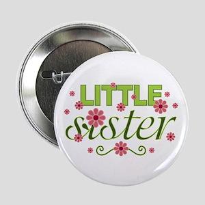 """Little Sister Garden Flowers 2.25"""" Button"""