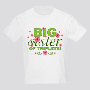 Big Sister of Triplets Kids Light T-Shirt