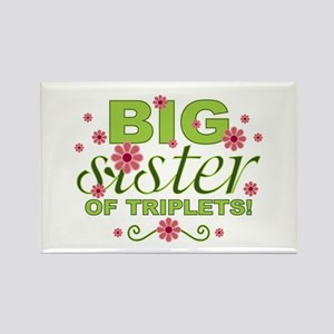 Big Sister of Triplets Rectangle Magnet