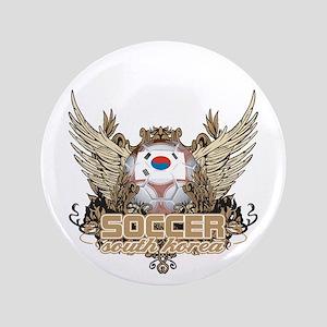 """Soccer South Korea 3.5"""" Button"""