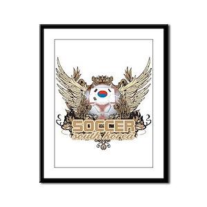 Soccer South Korea Framed Panel Print