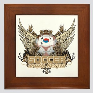 Soccer South Korea Framed Tile