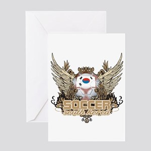 Soccer South Korea Greeting Card