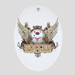 Soccer South Korea Oval Ornament