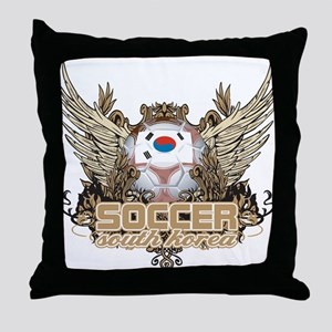 Soccer South Korea Throw Pillow
