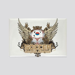 Soccer South Korea Rectangle Magnet