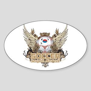 Soccer South Korea Oval Sticker