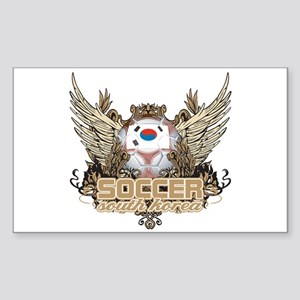 Soccer South Korea Rectangle Sticker