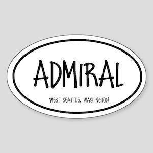 Admiral Oval Sticker