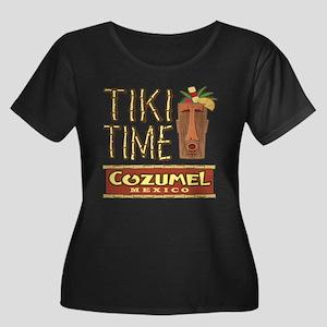 Cozumel Tiki Time - Women's Plus Size Scoop Neck D