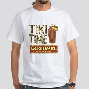 Cozumel Tiki Time - White T-Shirt