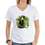 Ghost Orchid Women's V-Neck T-Shirt
