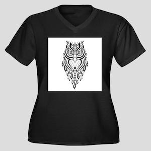 Owl. Ethnic pattern. Plus Size T-Shirt