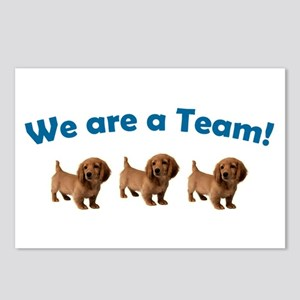 Dachshund Team (Blue) Postcards (Package of 8)