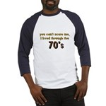 you can't scare me..70's Baseball Jersey