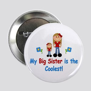 """Coolest Big Sister (rwb) 2.25"""" Button"""