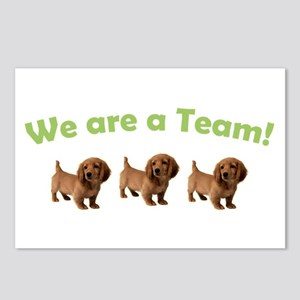 Dachshund Team (Green) Postcards (Package of 8)