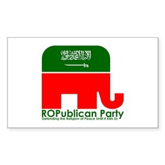 ROPublican Party Rectangle Decal