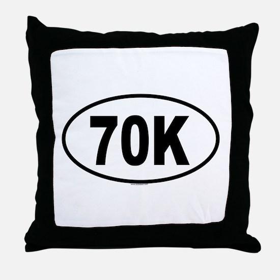 70K Throw Pillow