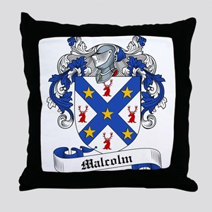 Malcolm Family Crest Throw Pillow