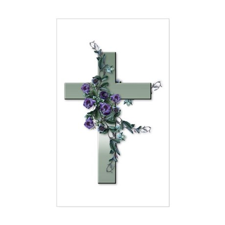 Emerald Cross Rectangle Sticker