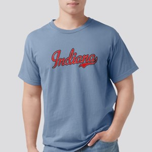 Indiana Script Font Red T-Shirt