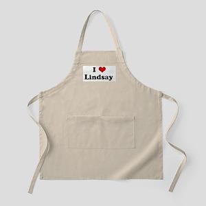 I Love Lindsay BBQ Apron