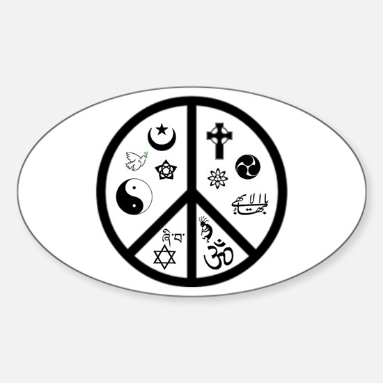 Peaceful Coexistence Oval Decal