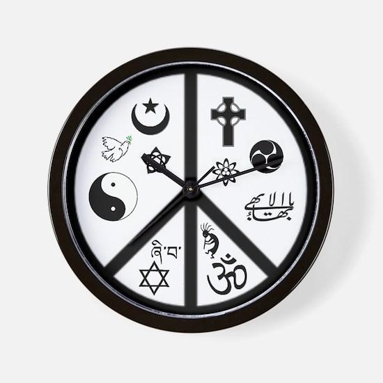 Peaceful Coexistence Wall Clock