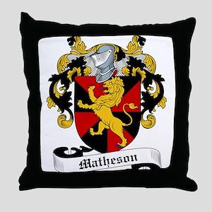 Matheson Family Crest Throw Pillow