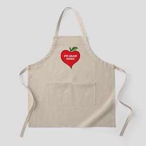 Heart Apple 8th Grade Rocks BBQ Apron
